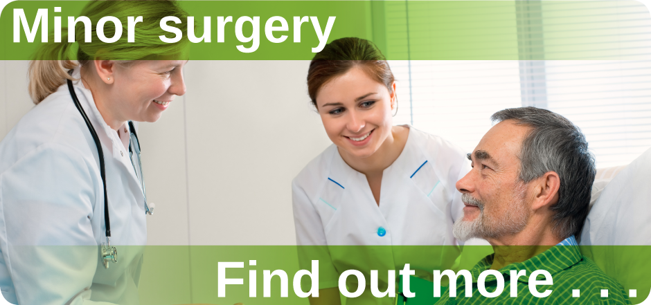 Minor surgery Mount Pleasant Health Centre Exeter find out more