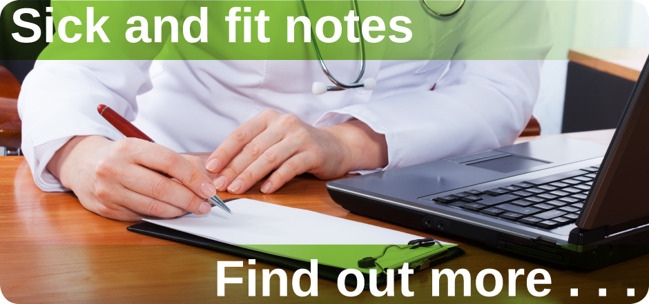 Sick notes & fit notes Mount Pleasant Health Centre Exeter find out more
